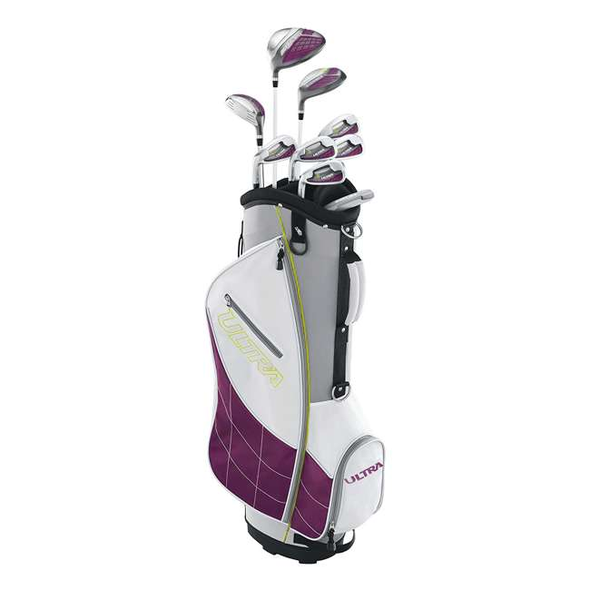 WGGC4340L + WGWP40150 Wilson Ultra Ladies Left-Hand Super Long Golf Club Bag Set & Balls 1