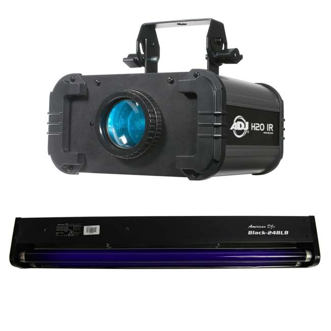 H2O-IR + BLACK-24BLB American DJ H2O Water Light Effect and 24 In Black Light