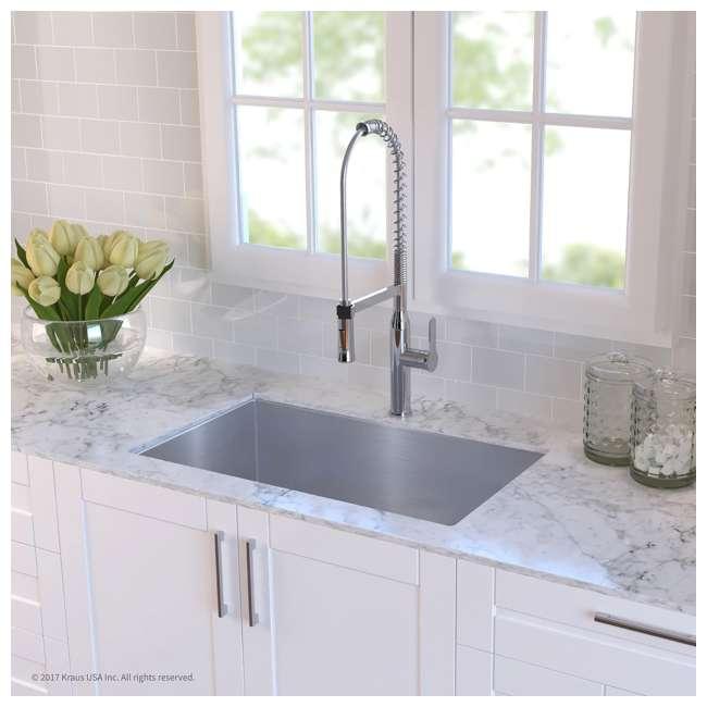 KHU100-32-OB Kraus 32-Inch Rectangular Undermount Stainless Steel Kitchen Sink (OPEN BOX) 3