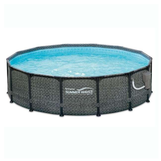 P2001448E167 + K2006 Summer Waves 14 Ft Pool Set w/ Taylor Water Test Kit 1