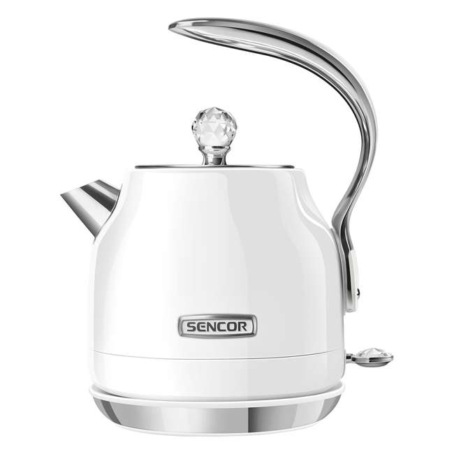 SWK40WH-NAB1 Sencor SWK 40WH 1500 Watt 1.2 Liter Plug Type B Pastel Decorated Kettle, White