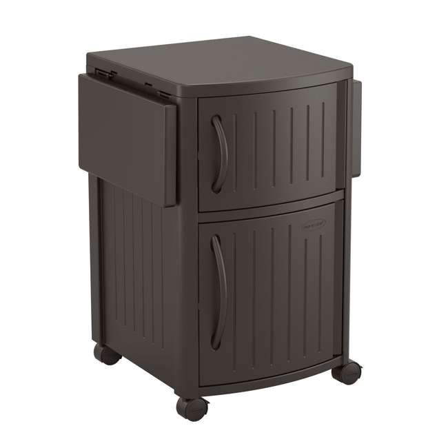DCP2000JD Suncast Outdoor Meal Serving Station and Cabinet, Brown (2 Pack) 2