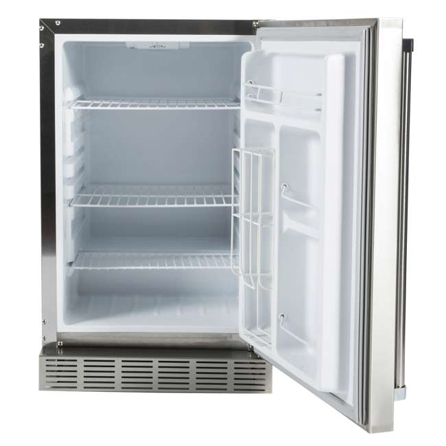 CBIR-R Coyote Outdoor 21 Inch Steel Built In Right Hinge Outdoor Refrigerator, Silver 1