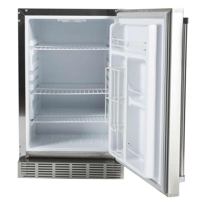 CBIR-R Coyote Outdoor 21 Inch Steel Built In Right Hinge Outdoor Refrigerator, Silver 1