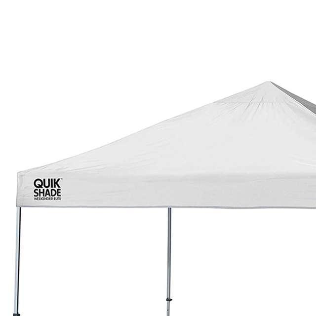 STL-160096DS-U-A ShelterLogic Weekender 10' x 10' Straight Leg Pop Up Canopy, White (Open Box) 1