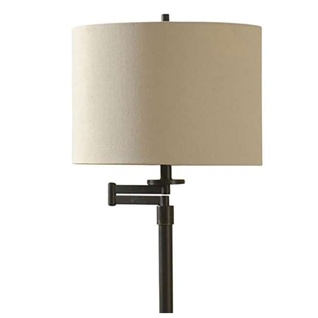 SC-L72755 Abode 84 Madison Bronze Floor Lamp with Swing Arm and Fabric Drum Shade 2