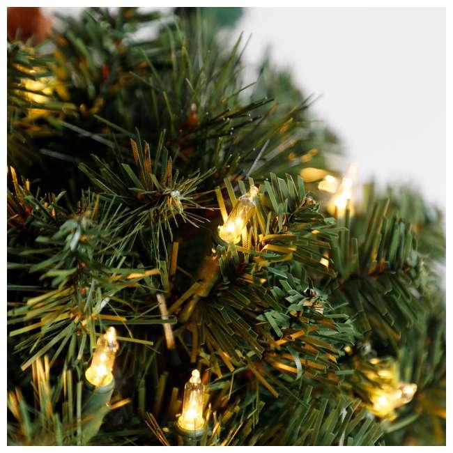 TP40M2W72C09 + TP26M2W72C00 Home Heritage 4 Ft Artificial Tree w/ Lights + 2.5 Ft Artificial Tree w/ Lights 4