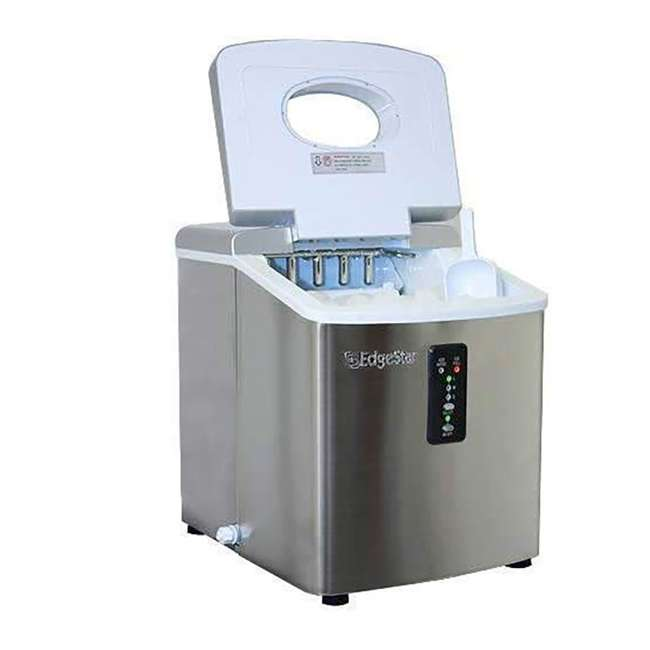 IP210SS EdgeStar 2.5 LB Capacity Countertop Portable Ice Cube Maker Machine, Stainless 2