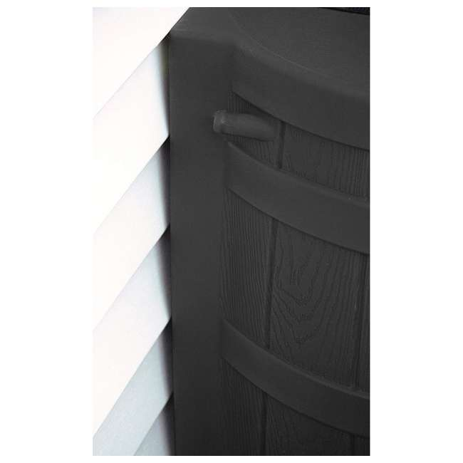 RW50-DIV-BLK Good Ideas Rain Wizard Rain Collection Barrel 50-Gallon w/ Diverter Kit, Black 3