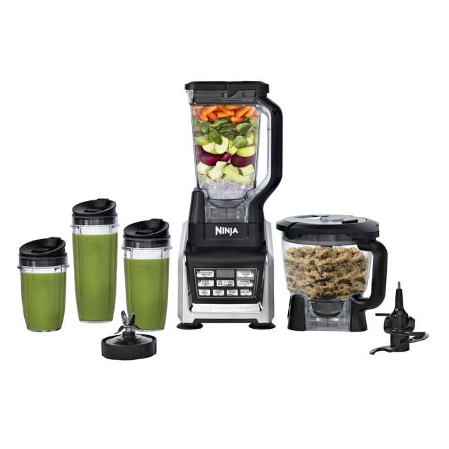 BL682_EGB-RB Nutri Ninja Blender Duo with Auto-iQ 2HP Blender with Food Processor Bowl (Certified Refurbished) 7