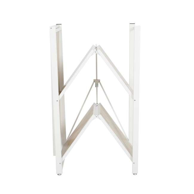 RGB-3M-WHI Origami Baker's Rack with MDF Shelf, White 6