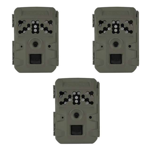 3 x MCG-13334 Moultrie Infrared Flash Mobile Phone Trail Game Hunting Camera, Green (3 Pack)