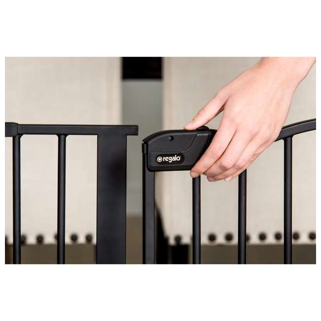 1176 Regalo Home Decor Super Wide Baby Gate, Black 3
