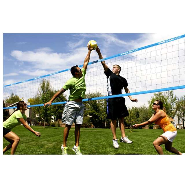 TP-179-WH-OB Park & Sun Sports Spectrum 179 Outdoor Volleyball Net Set (Open Box) 1