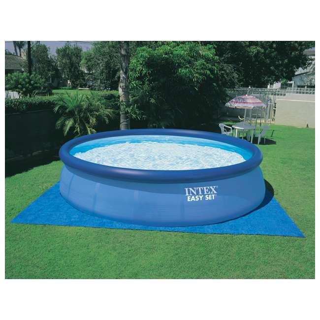 26175EH + QLC-42003 Intex 18 x 4 Foot Inflatable Easy Set Pool w/ Ladder, Pump, & Cleaning Kit 4