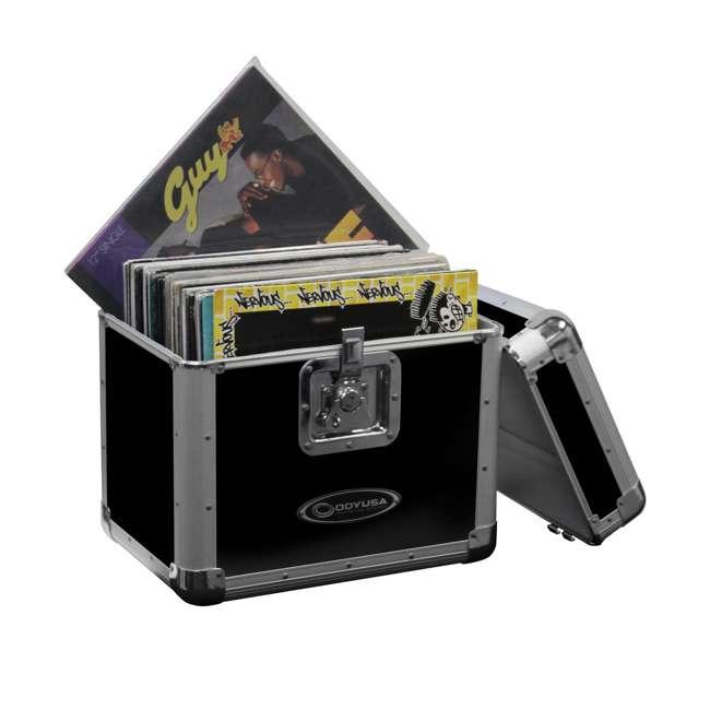 "ODY-KLP2BLK Odyssey KLP2-BLACK 70 12"" LP Vinyl Records Utlity Krom Case"