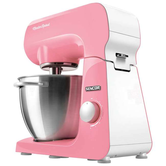 STM44RD-NAB1 Sencor STM44RD 8 Speed 4.7 Quart Stand Mixer with Beater and Hook, Pastel Red 2
