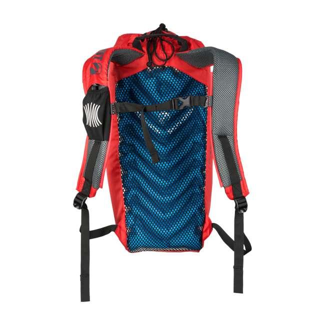 12STRD01C Klymit 20D Polyester Ultra-Lightweight Stash 18 Air Frame Day Backpack, Red 6
