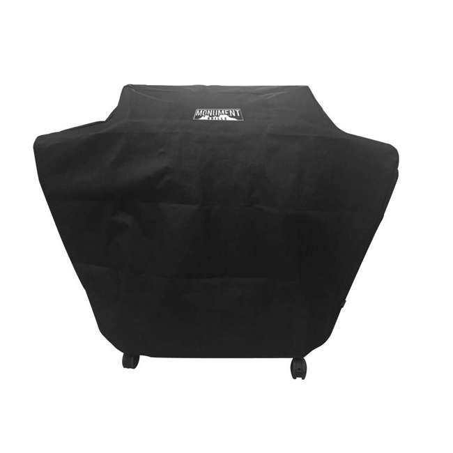 MG-98475-U-A Monument Grills Polyester Water Resistant Grill Cover, Black (Open Box)