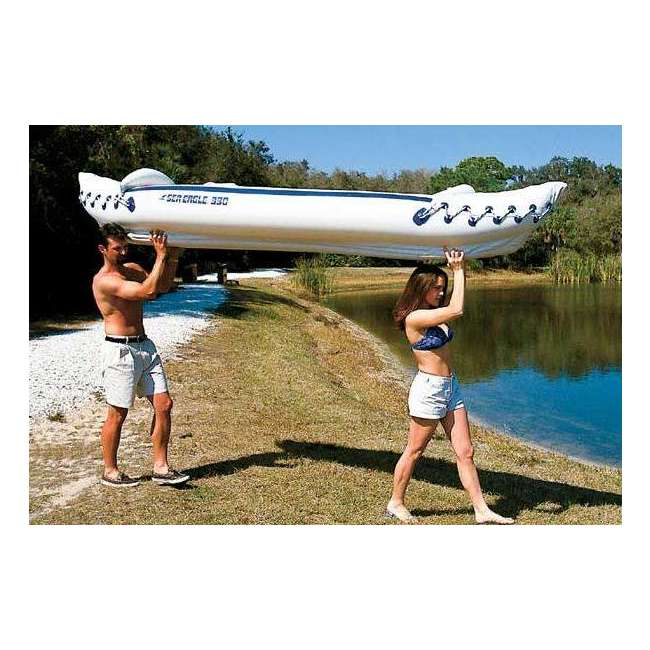 SE330K-DELUXE + 2 x NRS_40013_03_104 Sea Eagle Inflatable Kayak w/ Large Life Vest (2 Pack) 3