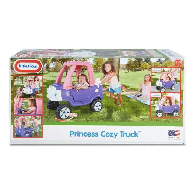 642777M-U-A Little Tikes Pink and Purple Princess Cozy Kids Ride On Truck (Open Box) 10