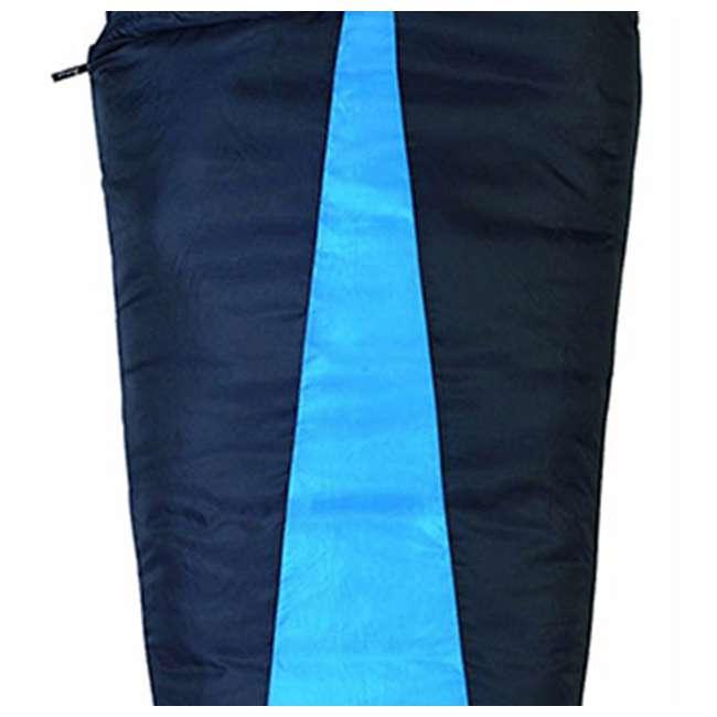 4 x 51723811RR Slumberjack Latitude 40-Degree Polyester Sleeping Bag, Blue (4 Pack) 4