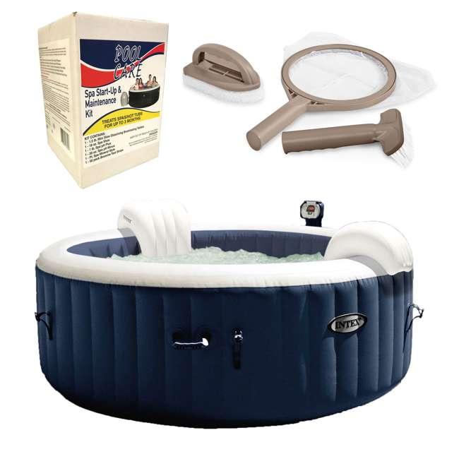 28405E + 28004E + QLC-14890 Intex Pure Spa Hot Tub, Accessory Kit, & Chemical Kit