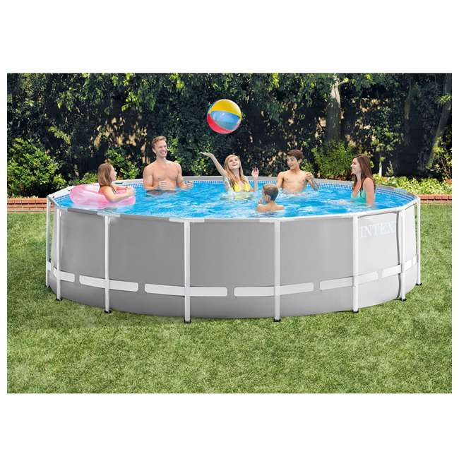 26725EH + 28002E Intex Above Ground Pool w/ Ladder, Cover & Kit 3