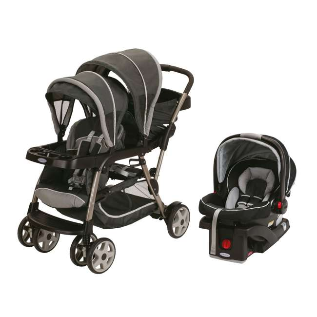Graco Ready2Grow LX Stand & Ride Duo Double Baby Stroller ...