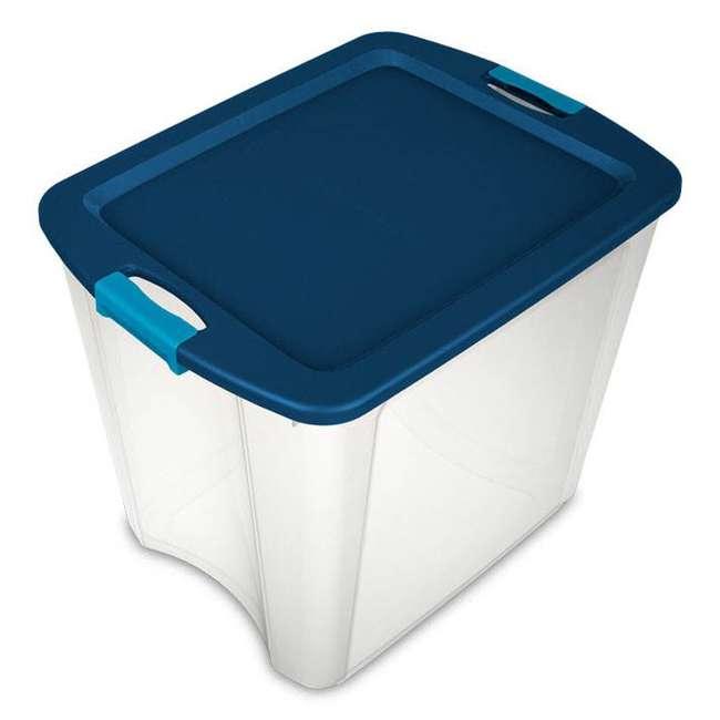 4 x 14489604-U-A 4 Pack Sterilite 26 Gallon Latch & Carry Storage Tote Box Containers (Open Box) 6