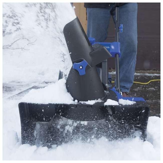 SNJ-SJ624E-U-B Snow Joe 21 Inch 14 Amp Electric Snow Thrower with 4 Blade Steel Auger (Used) 4