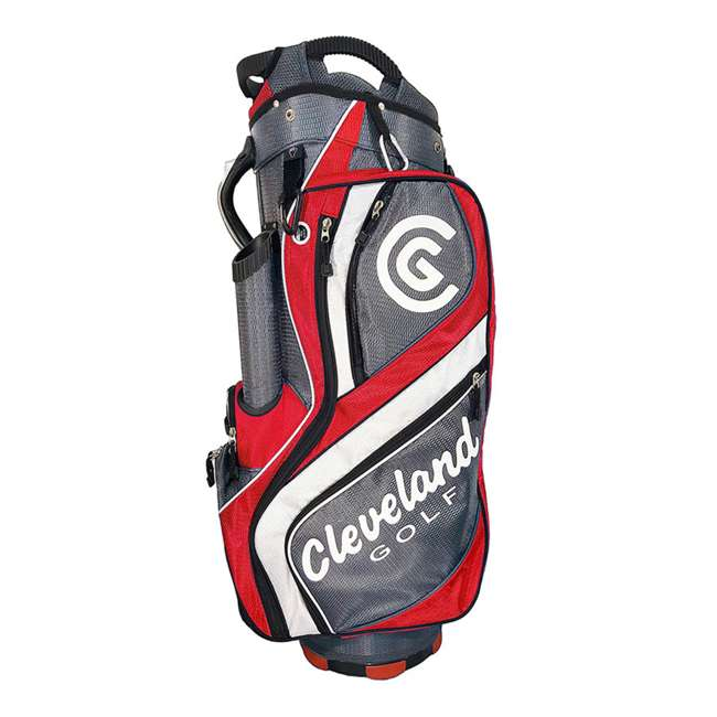 12089631 Cleveland Golf Riding Cart Bag With 14 Club Divider, Red