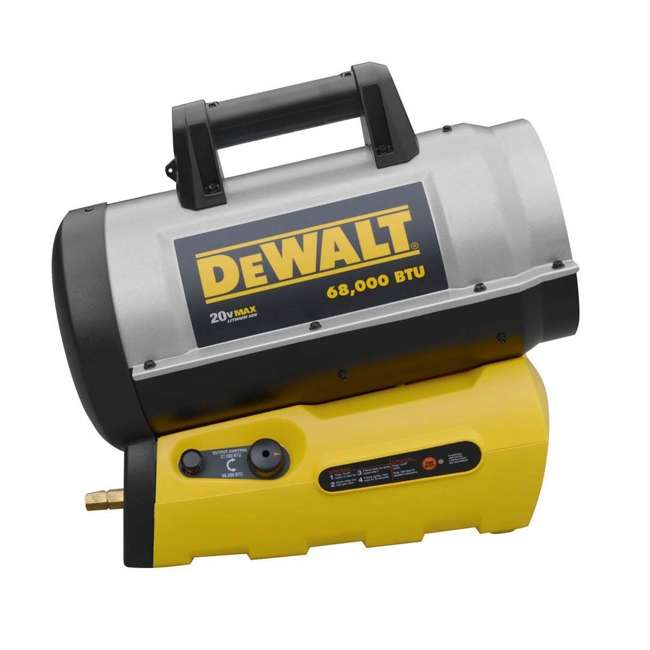 MH-F340661 DeWalt F340661 68,000 BTU Jobsite Portable Cordless Forced Air Propane Heater
