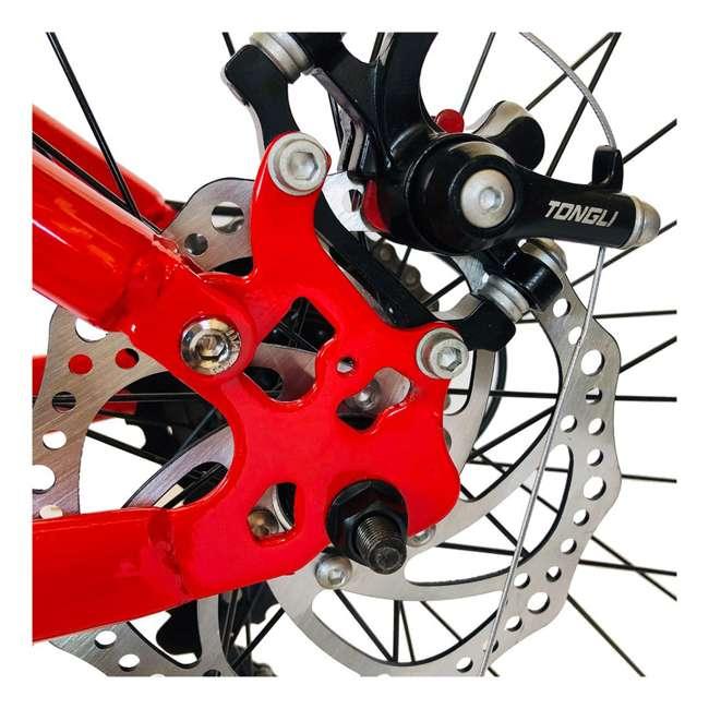 "MTB014-R NextGen 26"" 21 Speed Shimano Foldable Adult Hardtail Downhill Mountain Bike, Red 2"