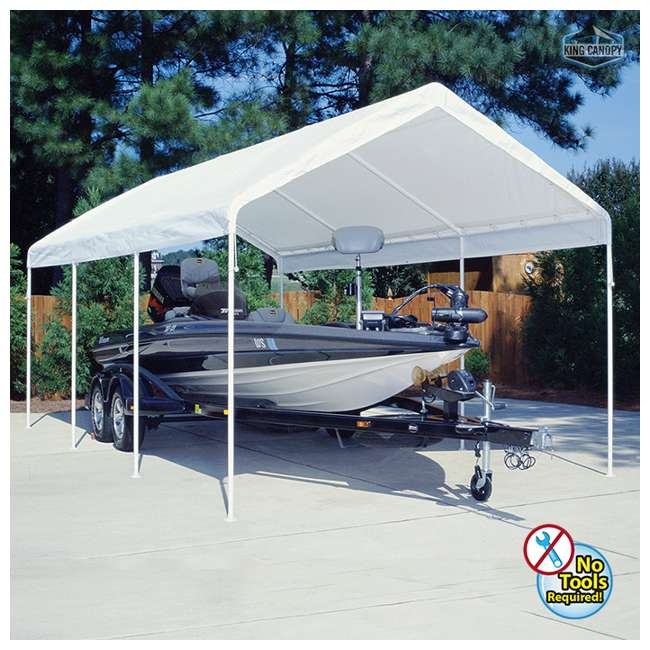 C81220PC King Canopy 12 x 20 Foot Universal Drawstring Canopy 1