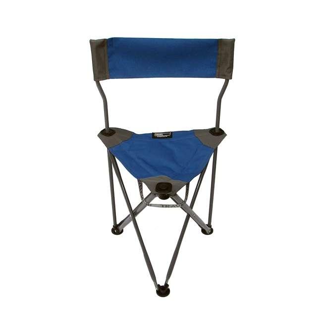 1489V2B TravelChair Ultimate Slacker 2.0 Portable Outdoor Folding Stool Seat, Blue 1