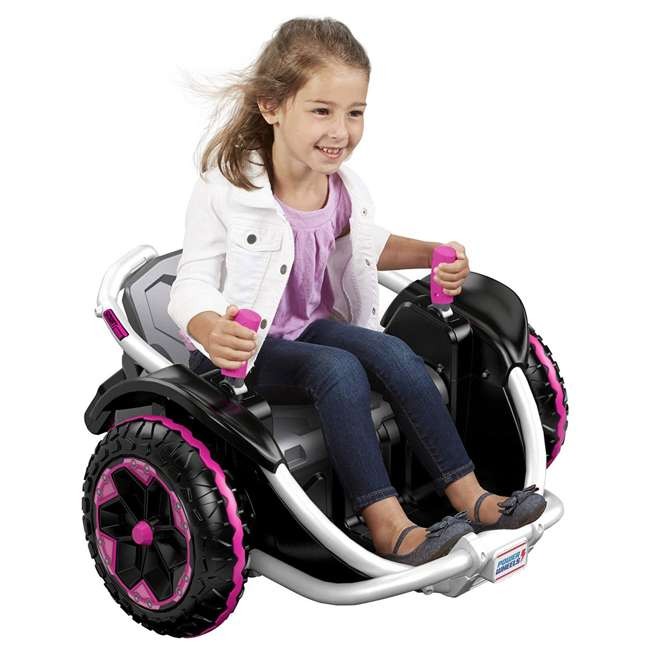 FNK90 Power Wheels Wild Thing 12V Kids Ride-On Vehicle, Pink 4