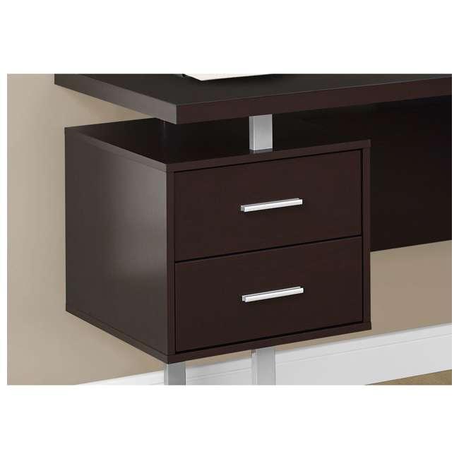 VM-7305-U-B Monarch Specialties 70 Inch Furniture Computer Desk, Cappuccino (Used) 2
