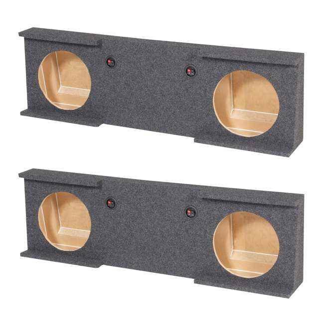 """GMC10-2007-4DR GMC Chevy Crew Cab 2007-13 Dual 10"""" Subwoofer Box  (2 Pack)"""