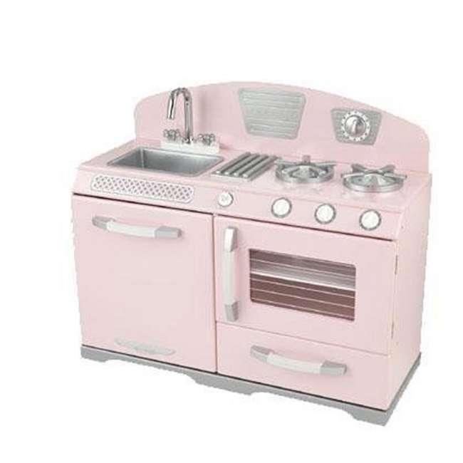 Kitchen Set Ukuran 1 Meter: KidKraft Pink Retro Kitchen Stove & Oven Girls Play Set