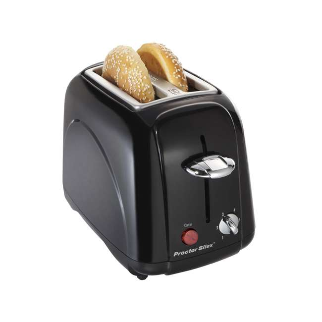 22301 Proctor Silex 2-Slice Toaster with Slide Out Crumb Tray