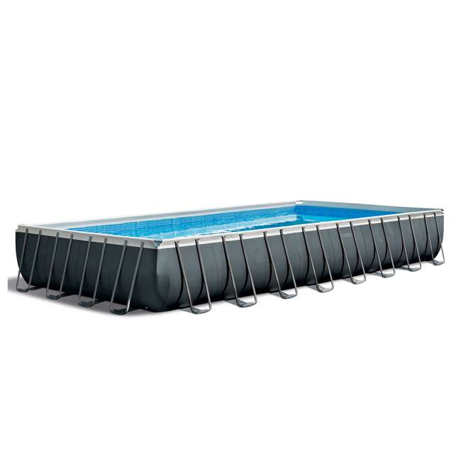 26373EH + 2 x 58868EP + 58821EP Intex 32ft x 16ft x 52in Pool Set with Floating Lounge (2 Pack) and Cooler Float