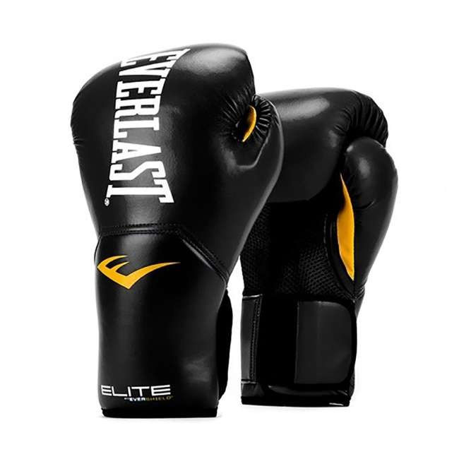 P00001240 + 4455-3 Everlast Boxing Gloves Size 12 Ounces & Hand Wraps (3 Pack) 1