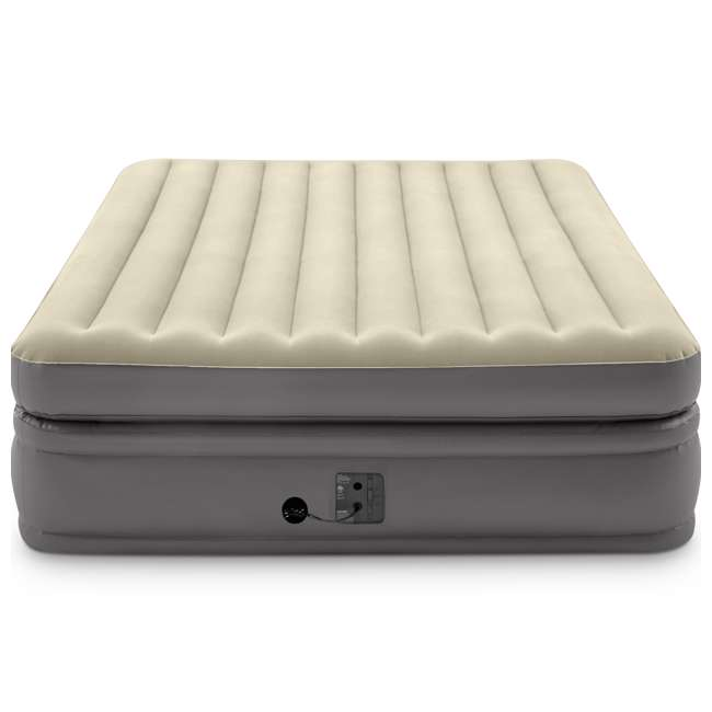 64163EP Intex 64163EP Comfort Elevated Portable Airbed with Fiber-Tech Technology, Queen