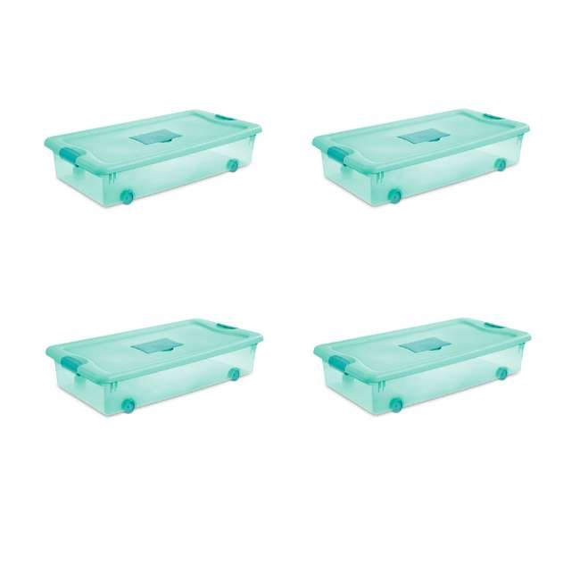 4 x 15087Y04 Sterilite 56 Quart Wheeled Fresh Scent Storage Container Box with Lid (4 Pack) (4 Pack)