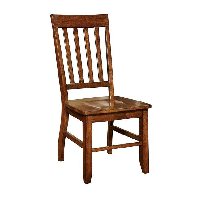 IDF-3437SC Furniture of America 3437SC Castile Transitional Dining Chair 2 Set, Dark Oak