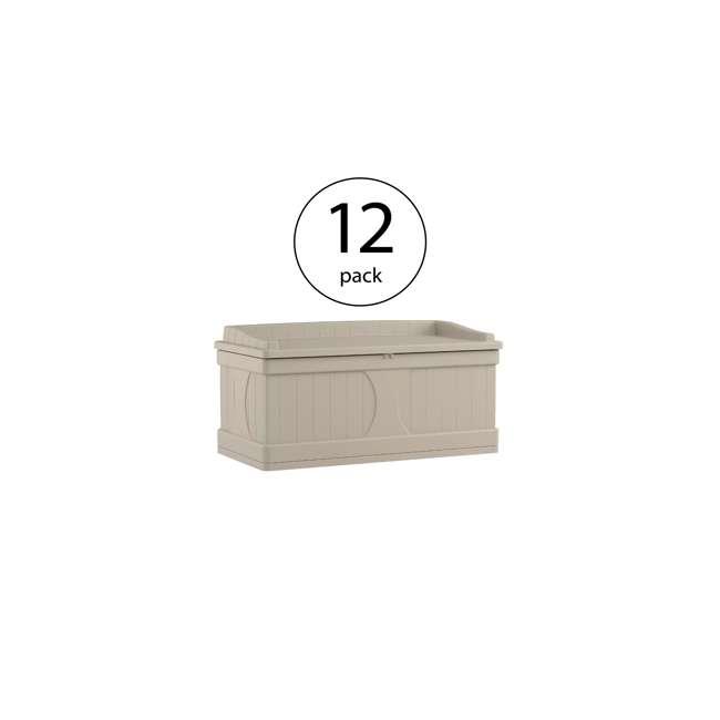 12 x DB9500 Suncast 99 Gallon Deck Box (12 Pack)