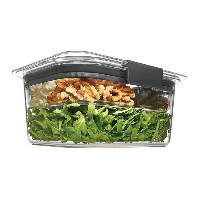 4 x 2027420 Rubbermaid Brilliance Medium Deep 4.7 Cup Food Salad Storage Container (4 Pack) 4