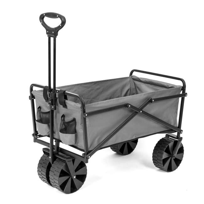 SUW-400GY Seina Collapsible Utility Beach Wagon and Cart, Gray (2 Pack) 5