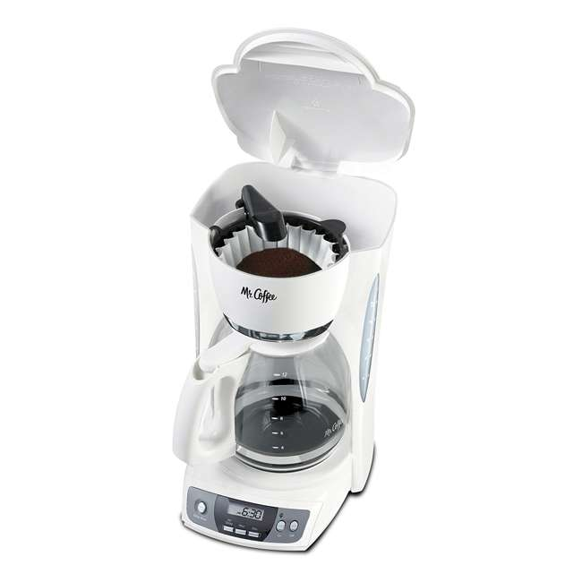 Coffee Maker On Clearance : Mr. Coffee Simple Brew 12-Cup White Coffee Maker : CGX20
